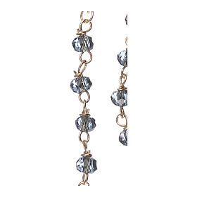 Collar Rosario AMEN clásico Pavè cristales azules Amarillo s4