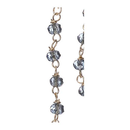 Collar Rosario AMEN clásico Pavè cristales azules Amarillo 4