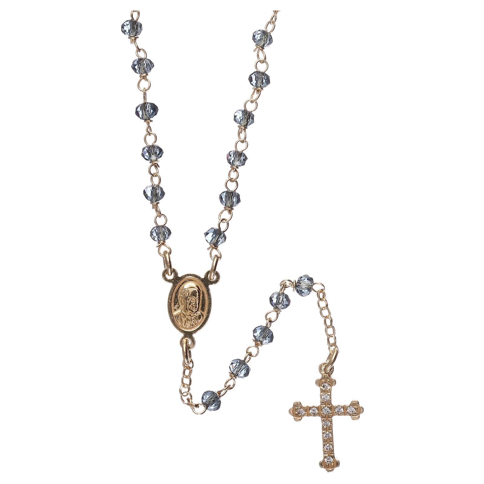Collana ros AMEN classico Pavè crist blu Giallo 4