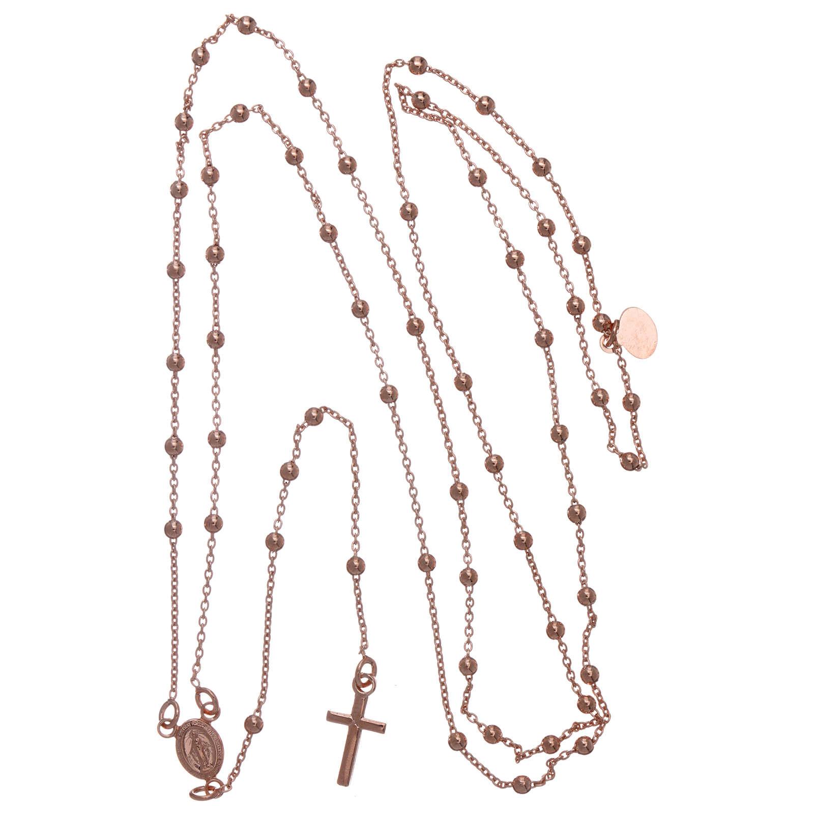 AMEN rosary necklace 2,5 mm diameter bronze rosè 4