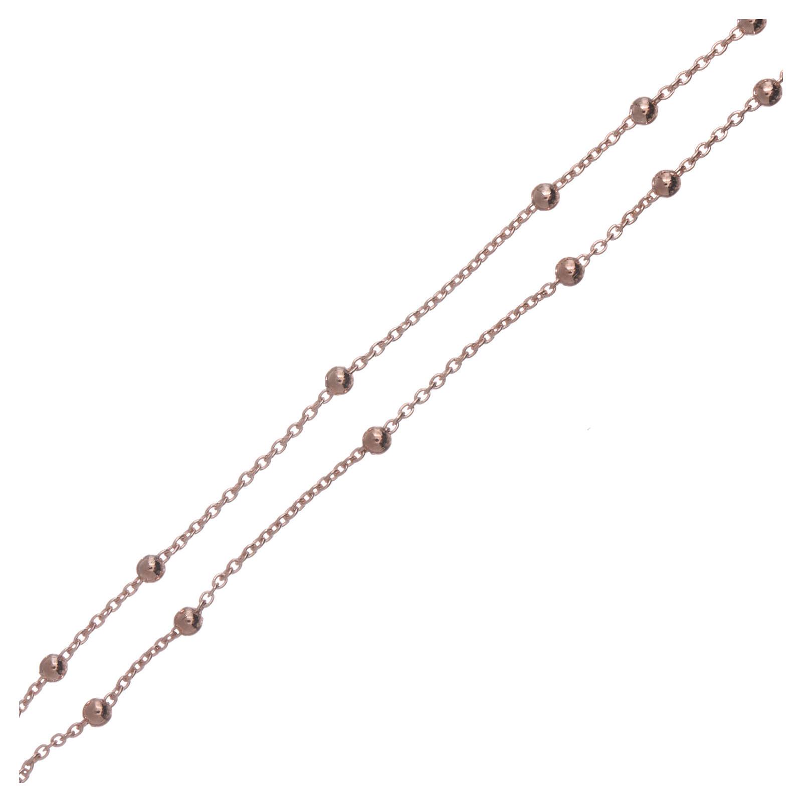 Collier chapelet AMEN diam. 2,5 mm bronze rosé 4