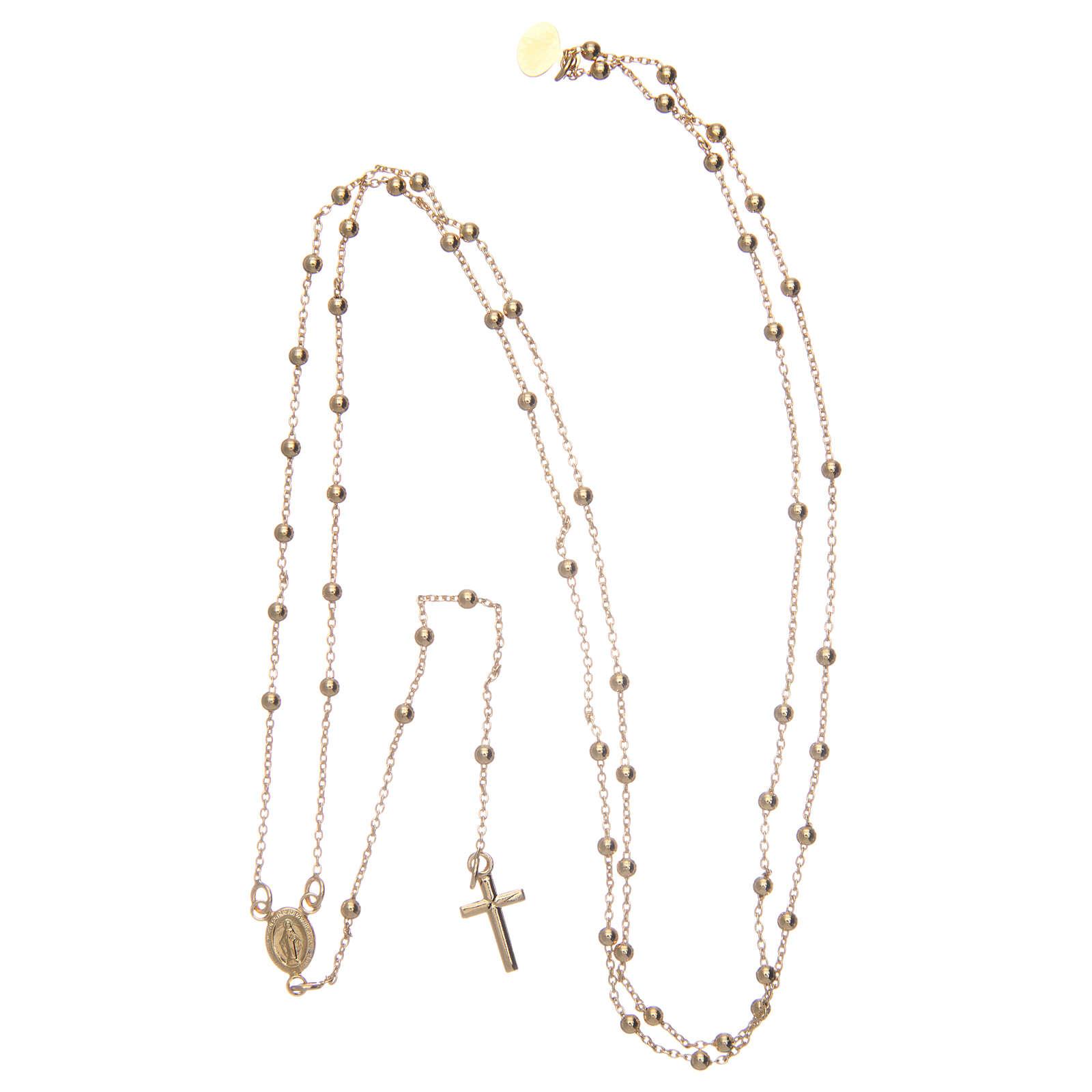 AMEN rosary necklace 2,5 mm diameter bronze yellow 4
