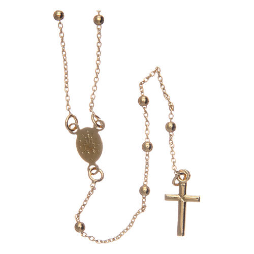 Collier chapelet AMEN diam. 2,5 mm bronze jaune 2