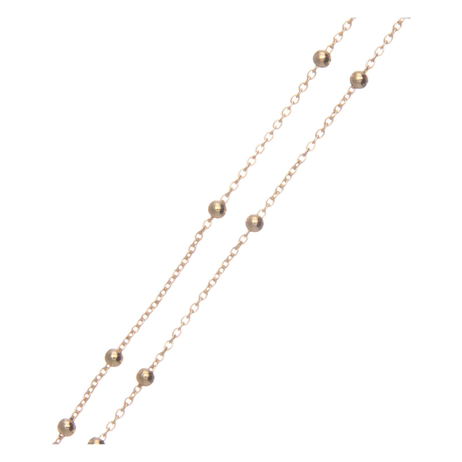 Collana rosario AMEN diam 2,5 mm bronzo Giallo 4