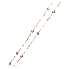 Collana rosario AMEN diam 2,5 mm bronzo Giallo s3