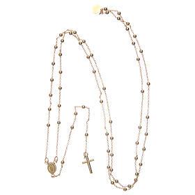 Collana rosario AMEN diam 2,5 mm bronzo Giallo s4