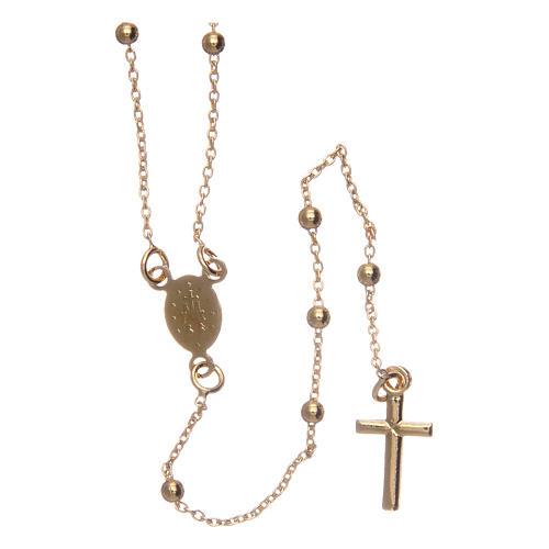 Collana rosario AMEN diam 2,5 mm bronzo Giallo 2