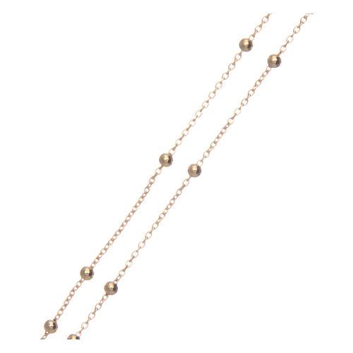 Collana rosario AMEN diam 2,5 mm bronzo Giallo 3
