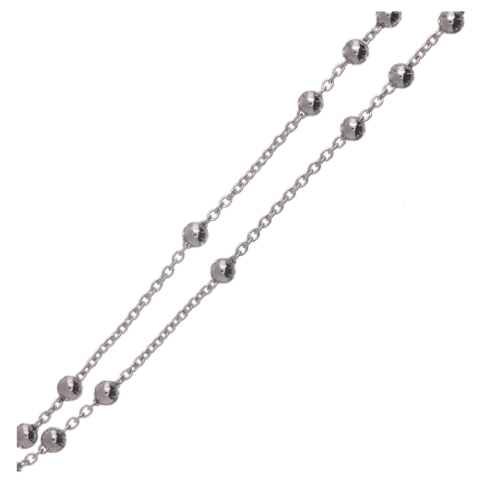 Collana rosario AMEN diam 4 mm bronzo Rodio 4