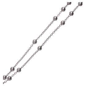 Collana rosario AMEN diam 4 mm bronzo Rodio s3