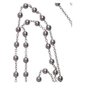 Collana rosario AMEN diam 4 mm bronzo Rodio s4