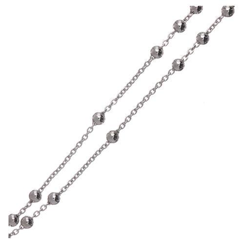 Collana rosario AMEN diam 4 mm bronzo Rodio 3