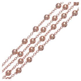 AMEN rosary necklace 4 mm diameter bronze rosè s3