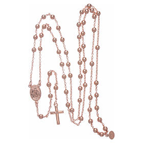 AMEN rosary necklace 4 mm diameter bronze rosè s4