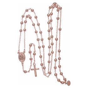 Collar rosario AMEN diám 4 mm bronce rosado s4