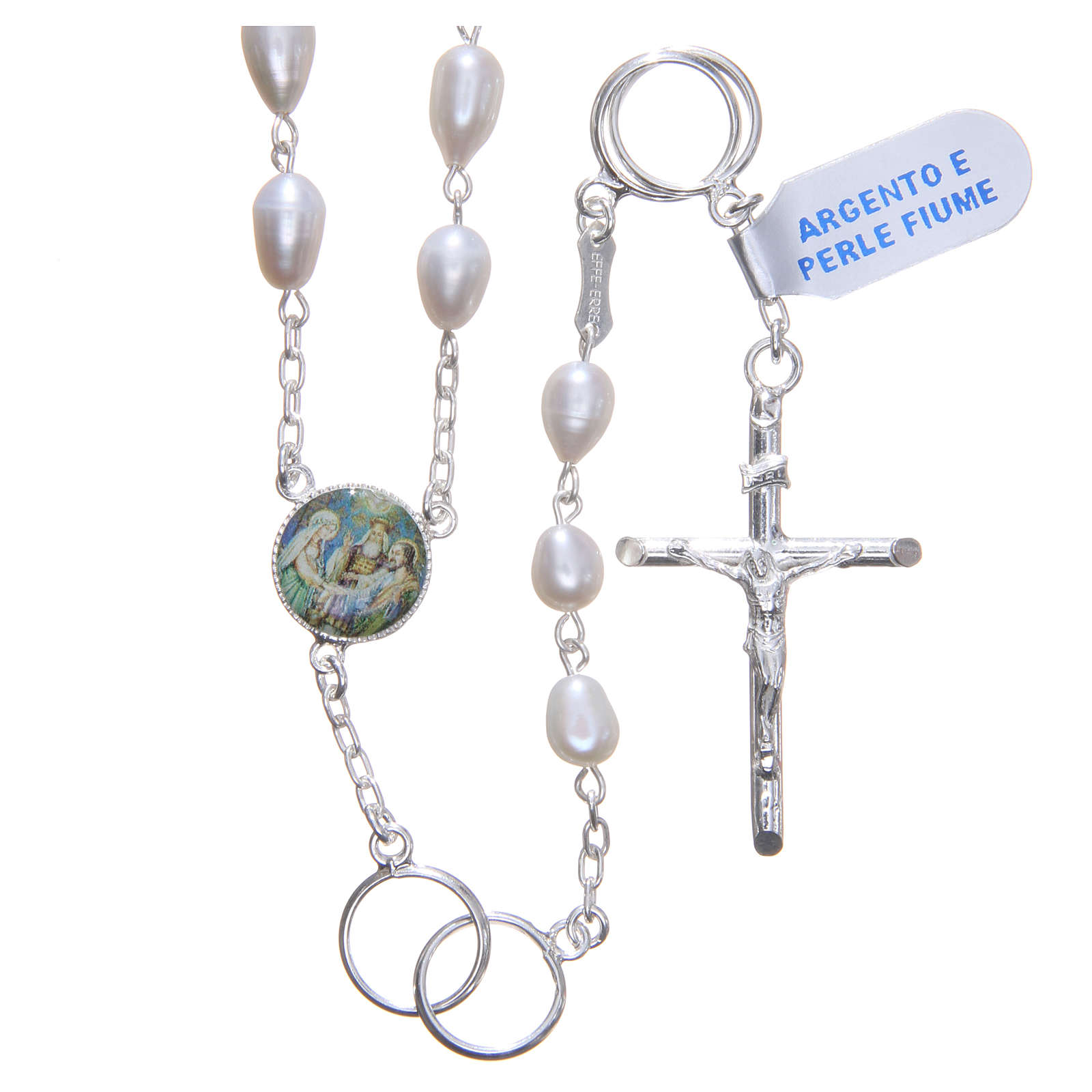 Wedding rosary beads with river pearls in 925 silver 4