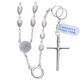 Wedding rosary beads with river pearls in 925 silver s2