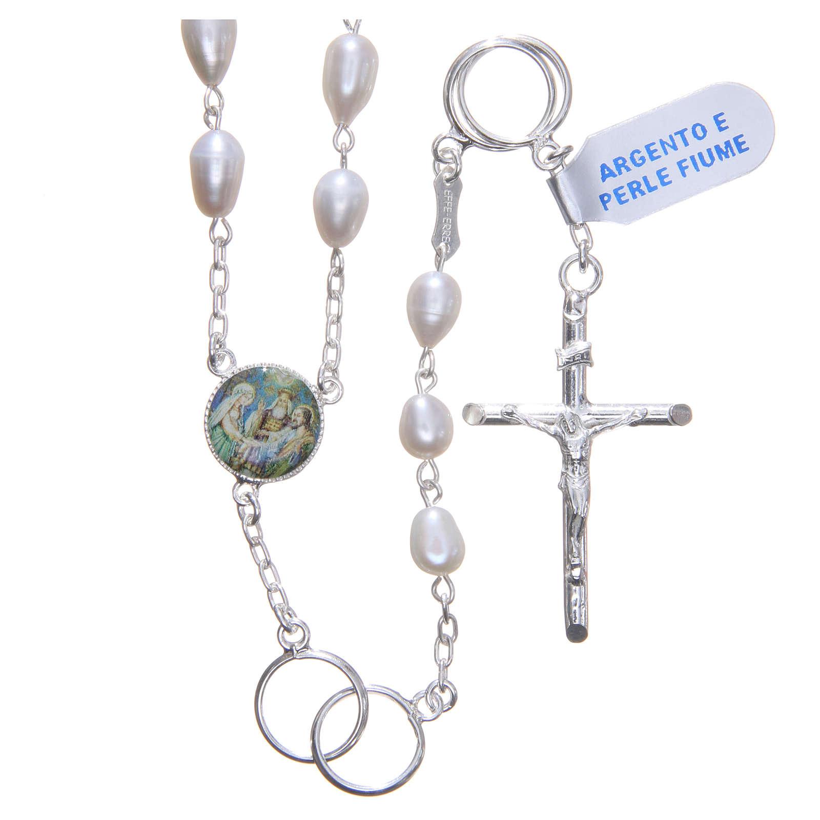 Chapelet mariage perles fleuve argent 925 4