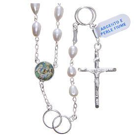 Chapelet mariage perles fleuve argent 925 s1