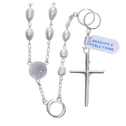 Chapelet mariage perles fleuve argent 925 2