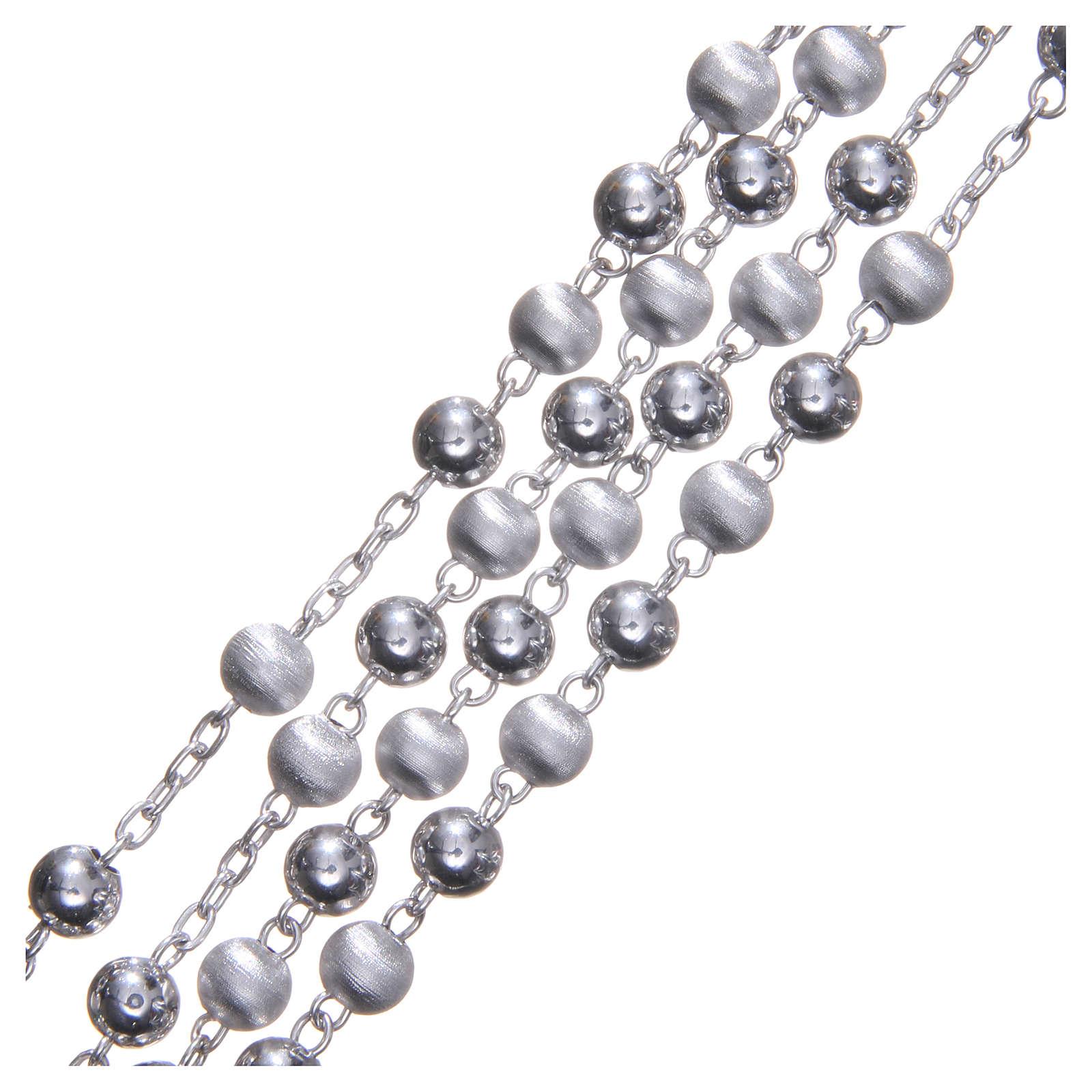 Rosario plata 925 con cuenta de 6 mm liso 4