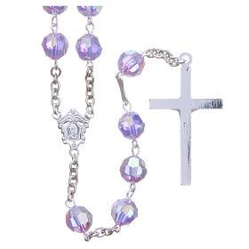 Chapelet argent 800 cristal Swarovski violet 8 mm s2
