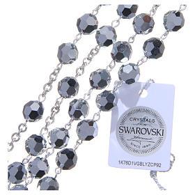 Rosario argento 800 cristallo Swarovski metallizzato 8 mm s3