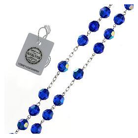 Rosario argento 925 cristallo Swarovski blu 8 mm s3