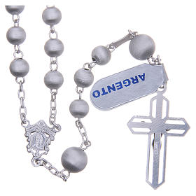 Rosary beads in 925 silver with satin grains measuring 6mm s2