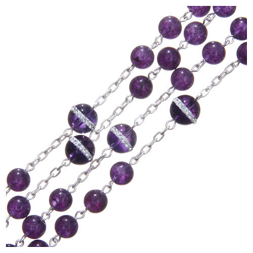 Rosary beads in 925 silver, with grains in amethyst 3