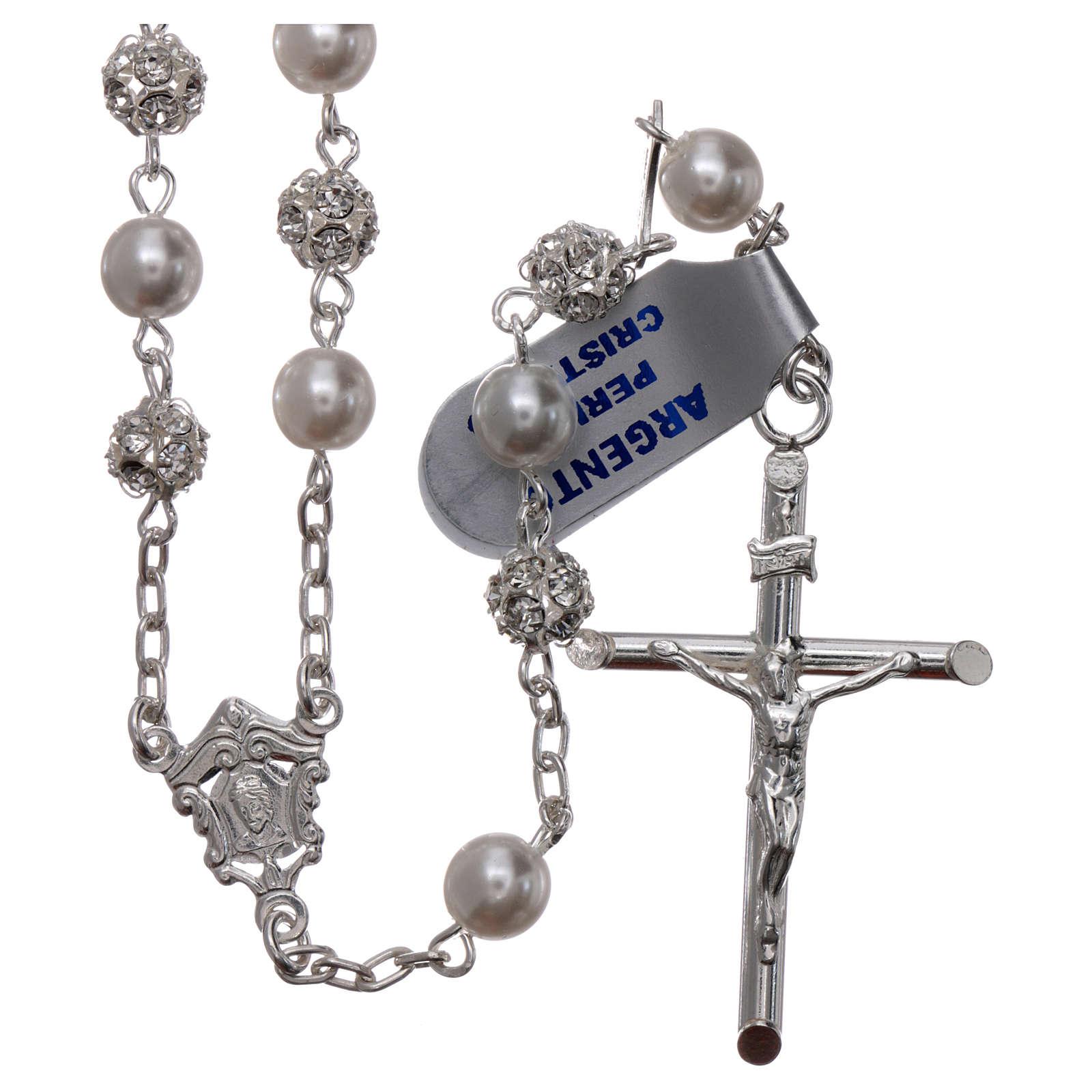 Rosario argento 800 6 mm perla 4