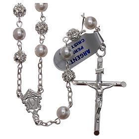 Rosario argento 800 6 mm perla s1