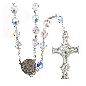 925 Silver rosary beads with Swarovski crystals measuring 8mm s2