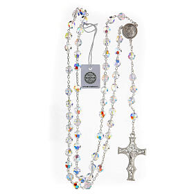 925 Silver rosary beads with Swarovski crystals measuring 8mm s4