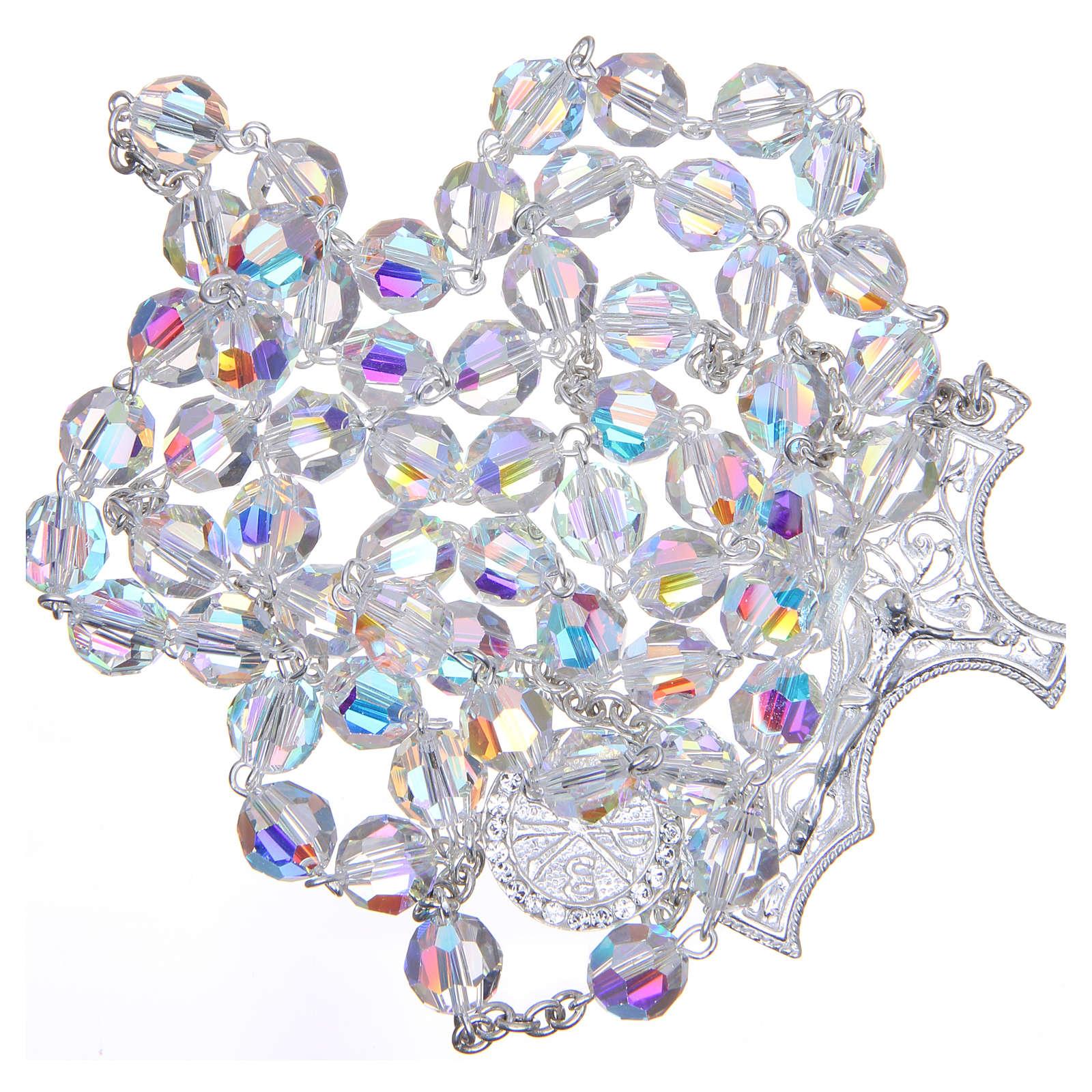 Rosario argento 8 mm  800 cristallo Swarovski 4