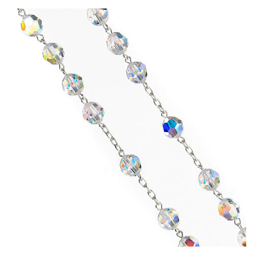 925 Silver rosary beads with Swarovski crystals measuring 8mm 3