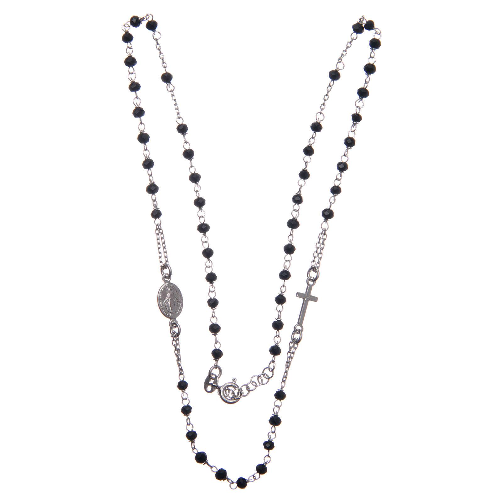 Rosario gargantilla color negro plata 925 4
