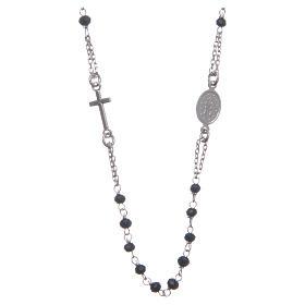 Rosario gargantilla color negro plata 925 s2