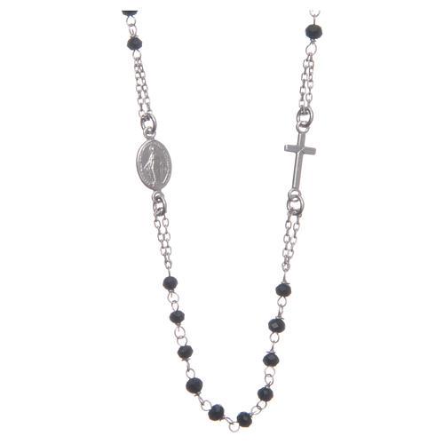 Rosario gargantilla color negro plata 925 1