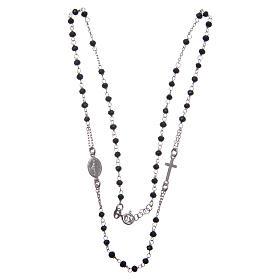 Rosario girocollo colore nero argento 925 s3