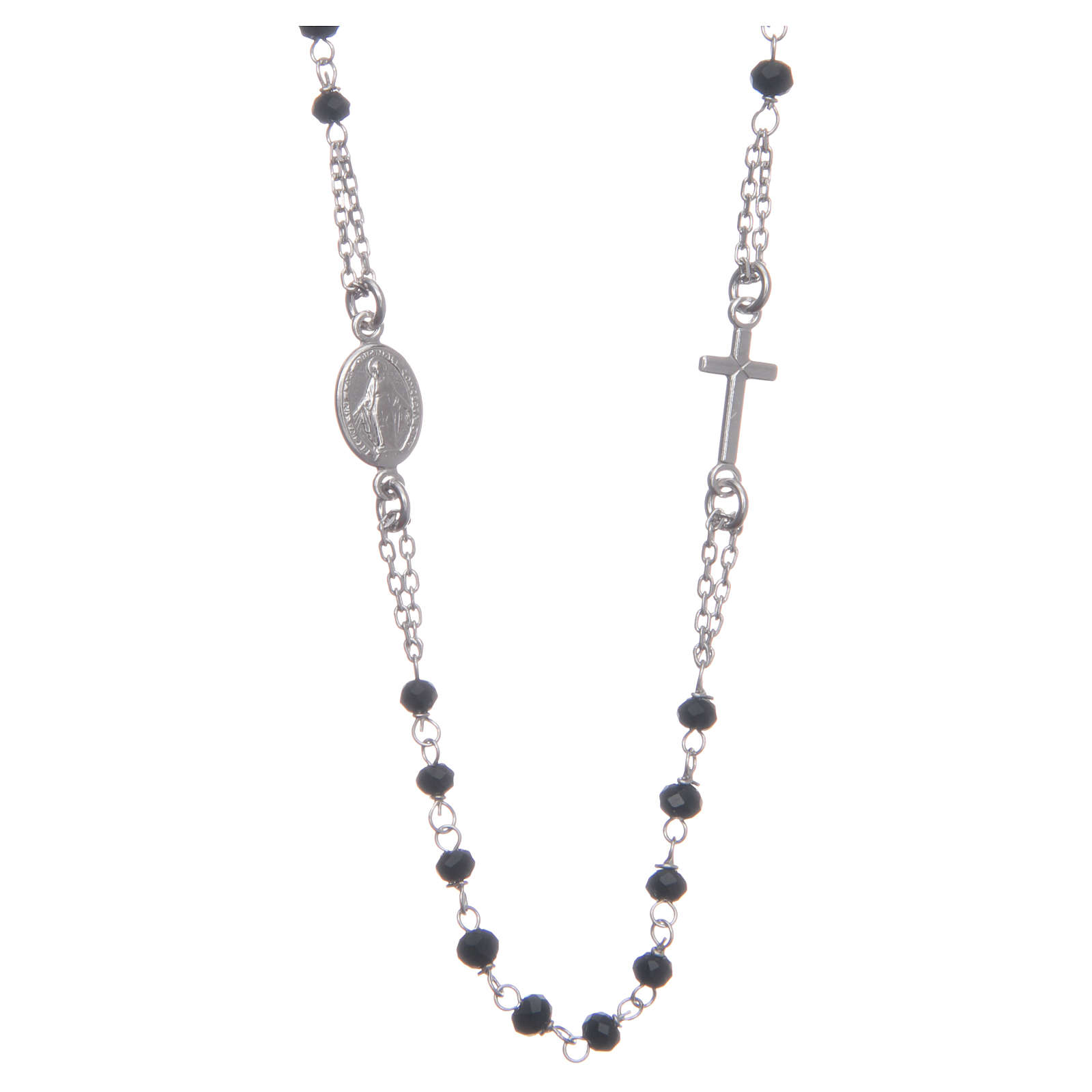 Rosary chocker black in 925 sterling silver 4