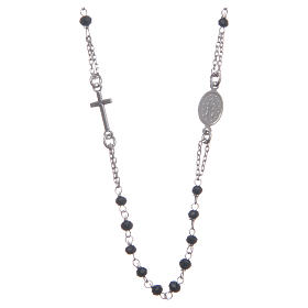 Rosary chocker black in 925 sterling silver s2
