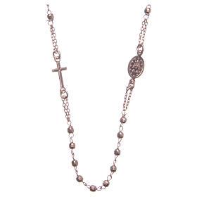 Rosario gargantilla color rosado plata 925 s2
