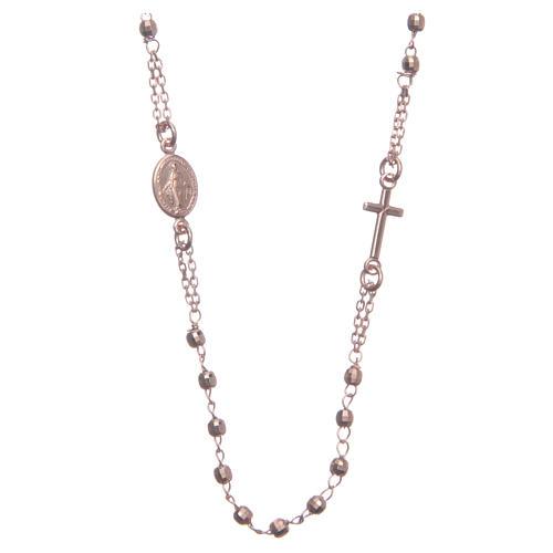 Rosario gargantilla color rosado plata 925 1