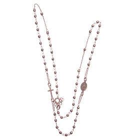 Rosario girocollo colore rosé argento 925 s3