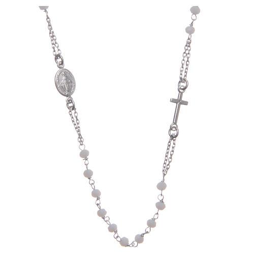 Rosario gargantilla color blanco plata 925 1