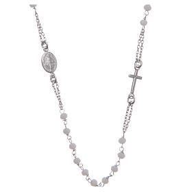 Rosario girocollo colore bianco argento 925 s1