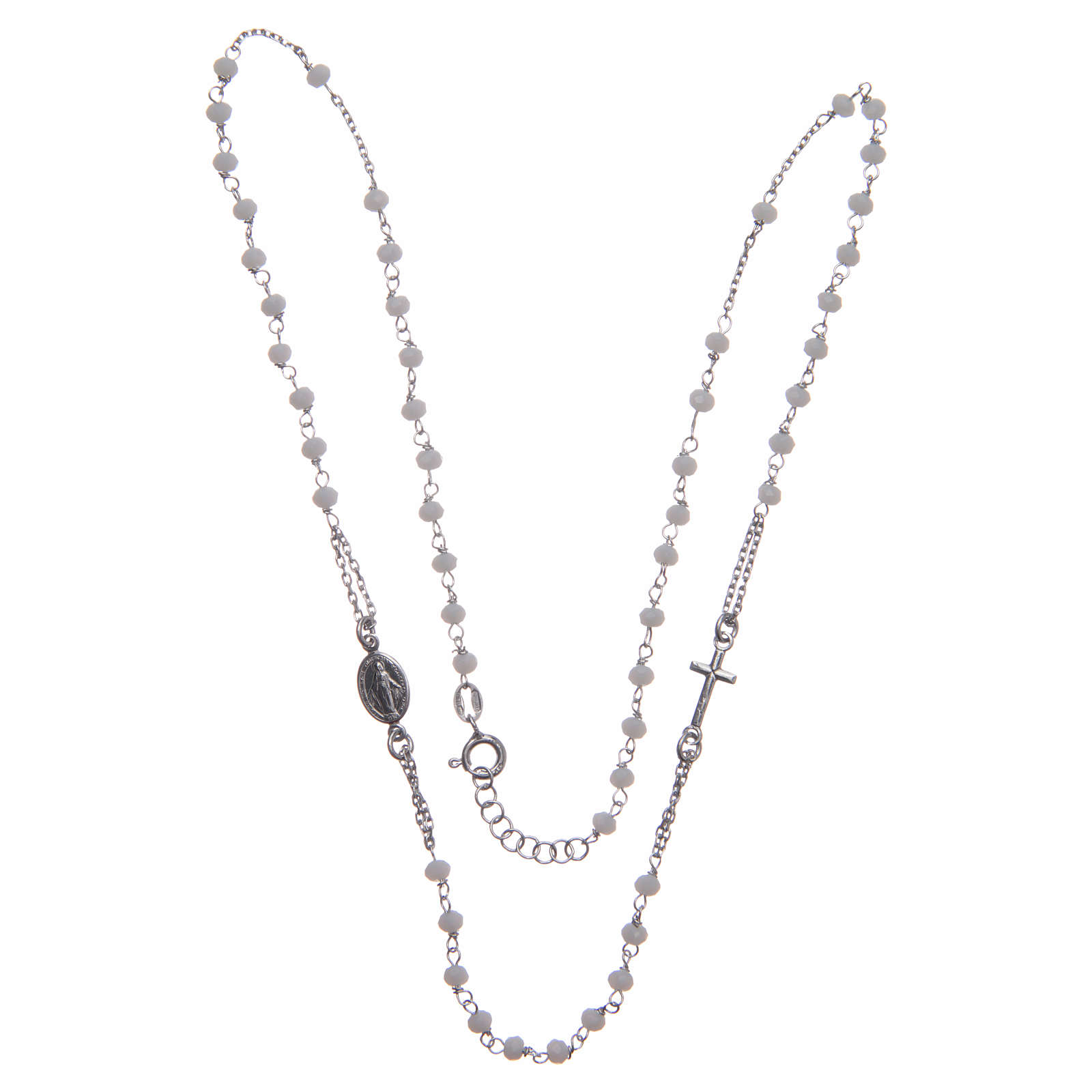 Classic rosary choker white in 925 sterling silver 4