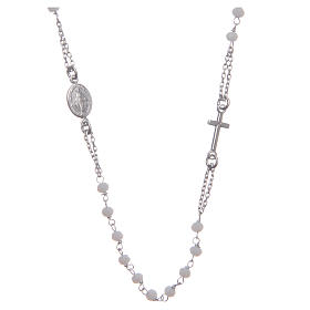 Classic rosary choker white in 925 sterling silver s1