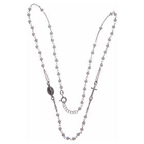 Classic rosary choker white in 925 sterling silver s3